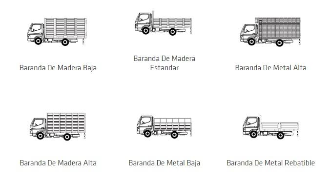 barandas camion canter fuso